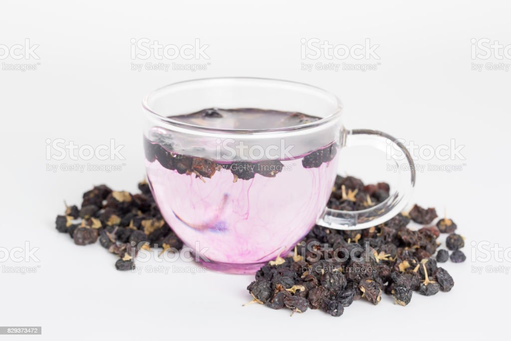 Black Goji Berry Tea On A White Background Stock Photo Download