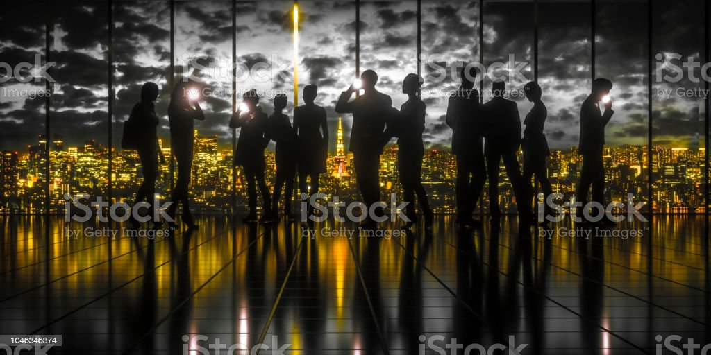 Black gold city stock photo