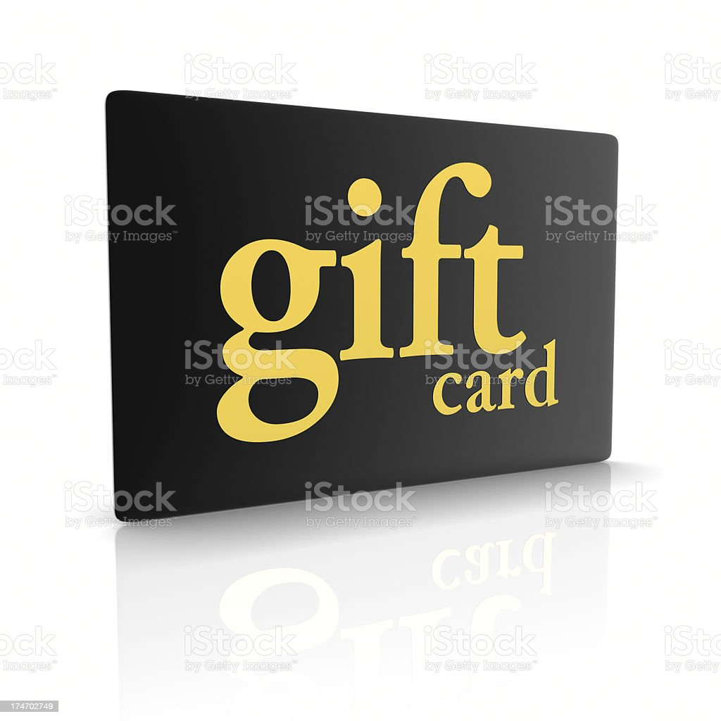 Black Gold Gift Card stock photo
