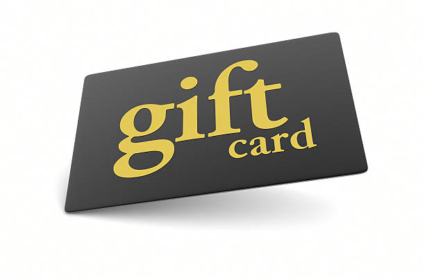 Or noir de carte-cadeau - Photo