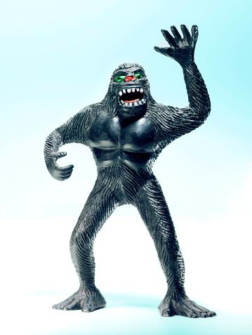 Black Gorilla Standing on Back Legs