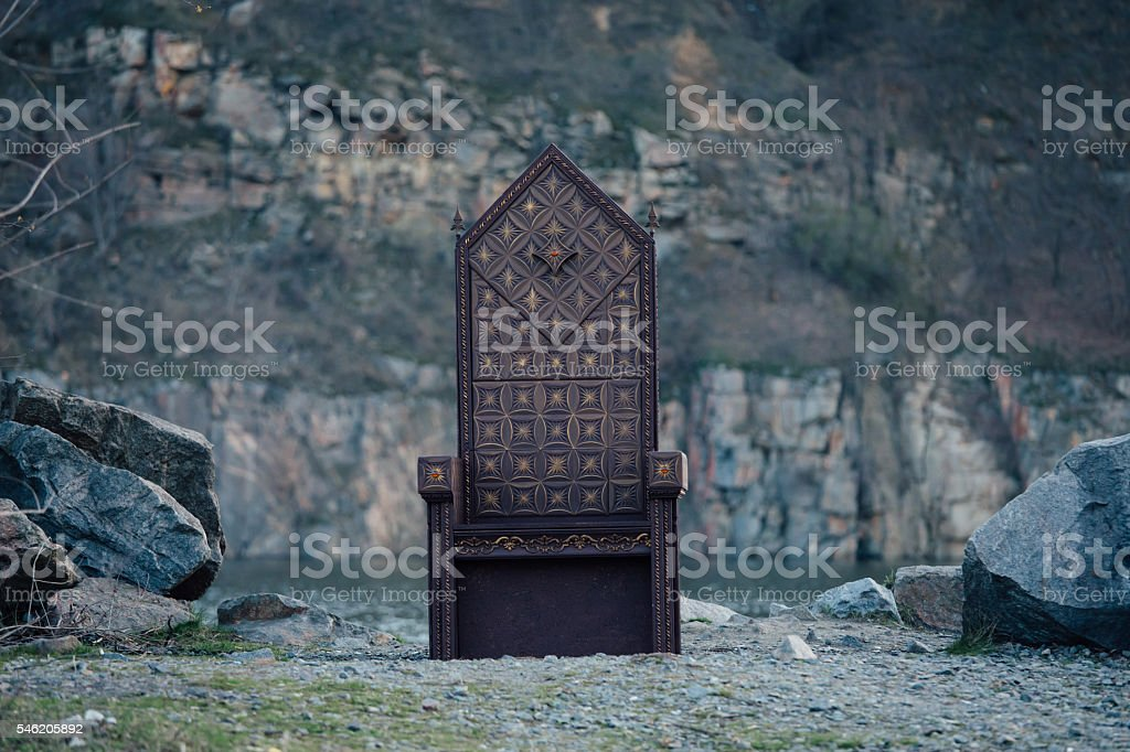 black gothic throne stock photo