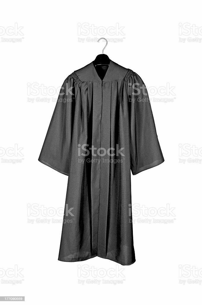Black graduation gown stock photo