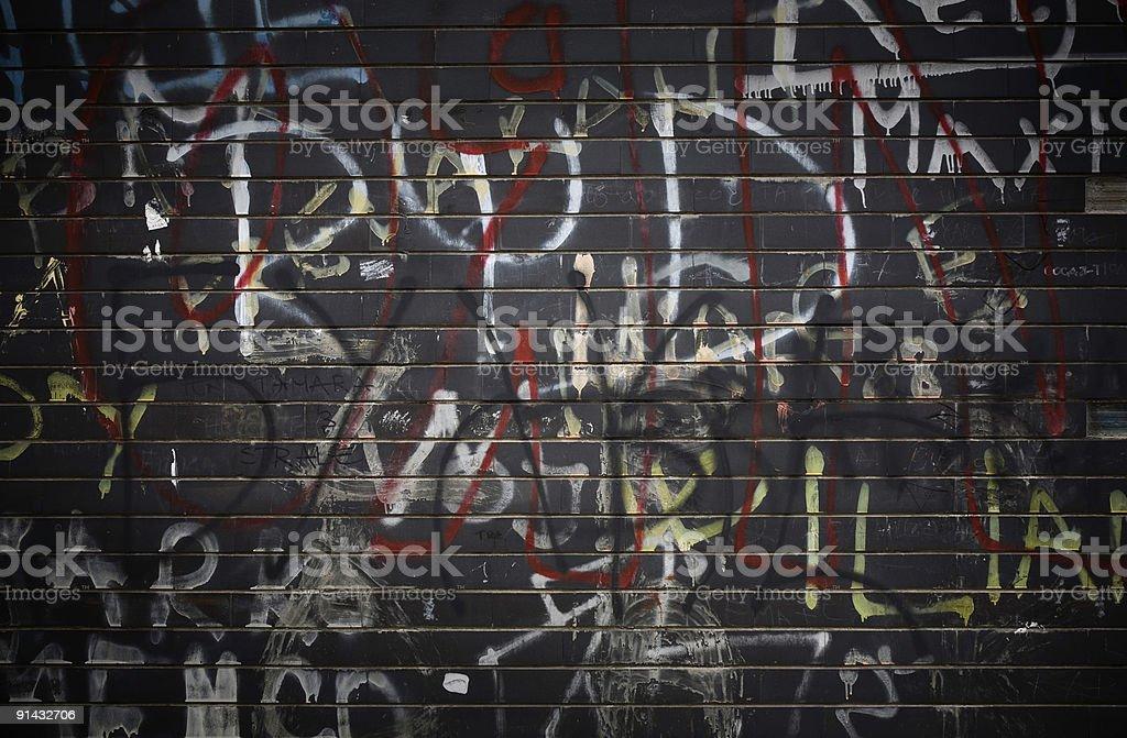 Black Graffiti Wall royalty-free stock photo