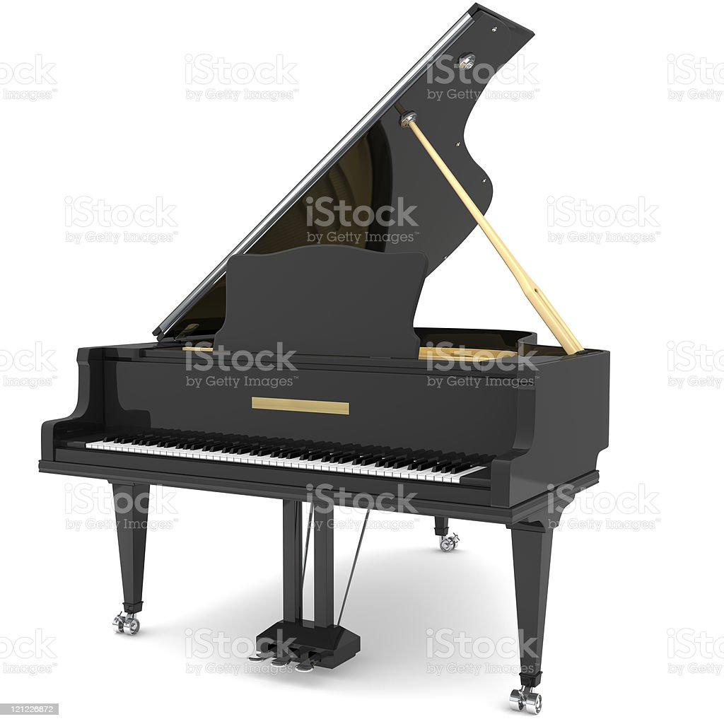 Black grand piano royalty-free stock photo