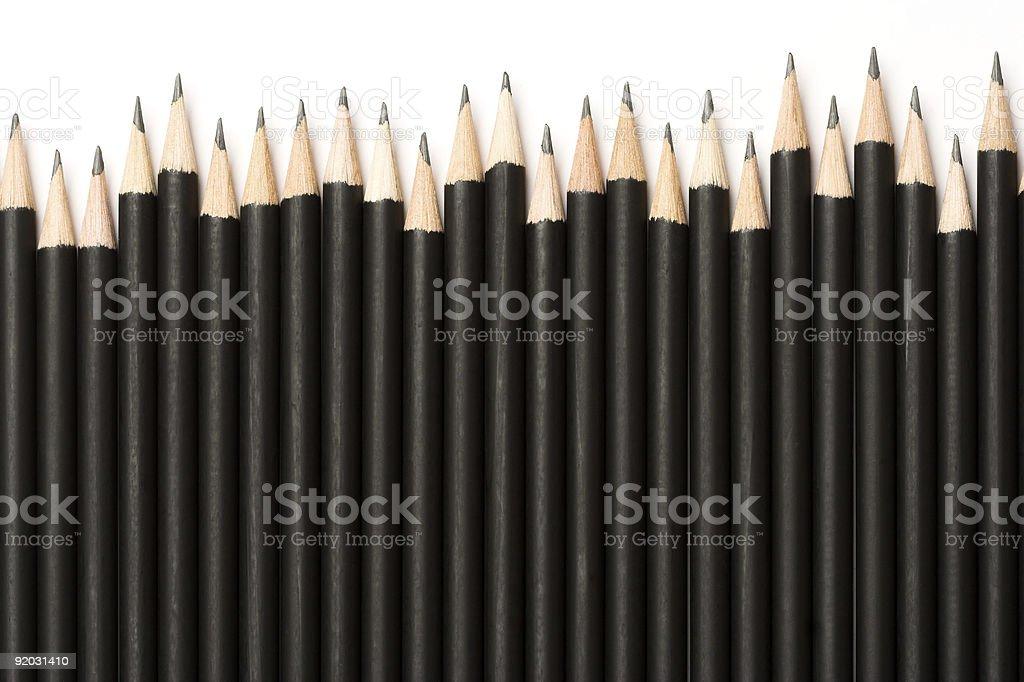 Black graphite pencils royalty-free stock photo