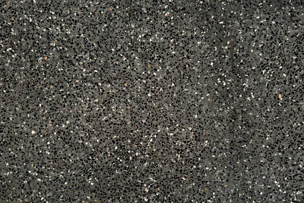 black-gravel terrazzo – Foto