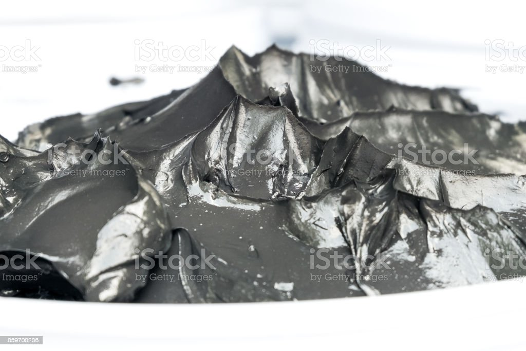 black grease for mechinery lubrication for background stock photo