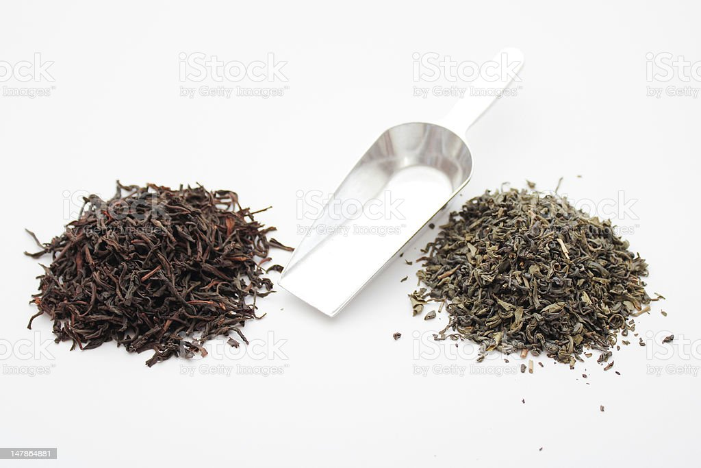 Black & Green Tea royalty-free stock photo