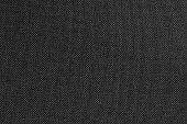 istock Black grey fabric texture for background and design art work with seamless pattern of natural textile. 1221561816
