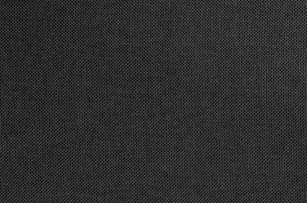 schwarz grau stoff textur für hintergrund-und design-kunst-arbeit mit nahtlosen muster aus naturtextil. - textilien stock-fotos und bilder