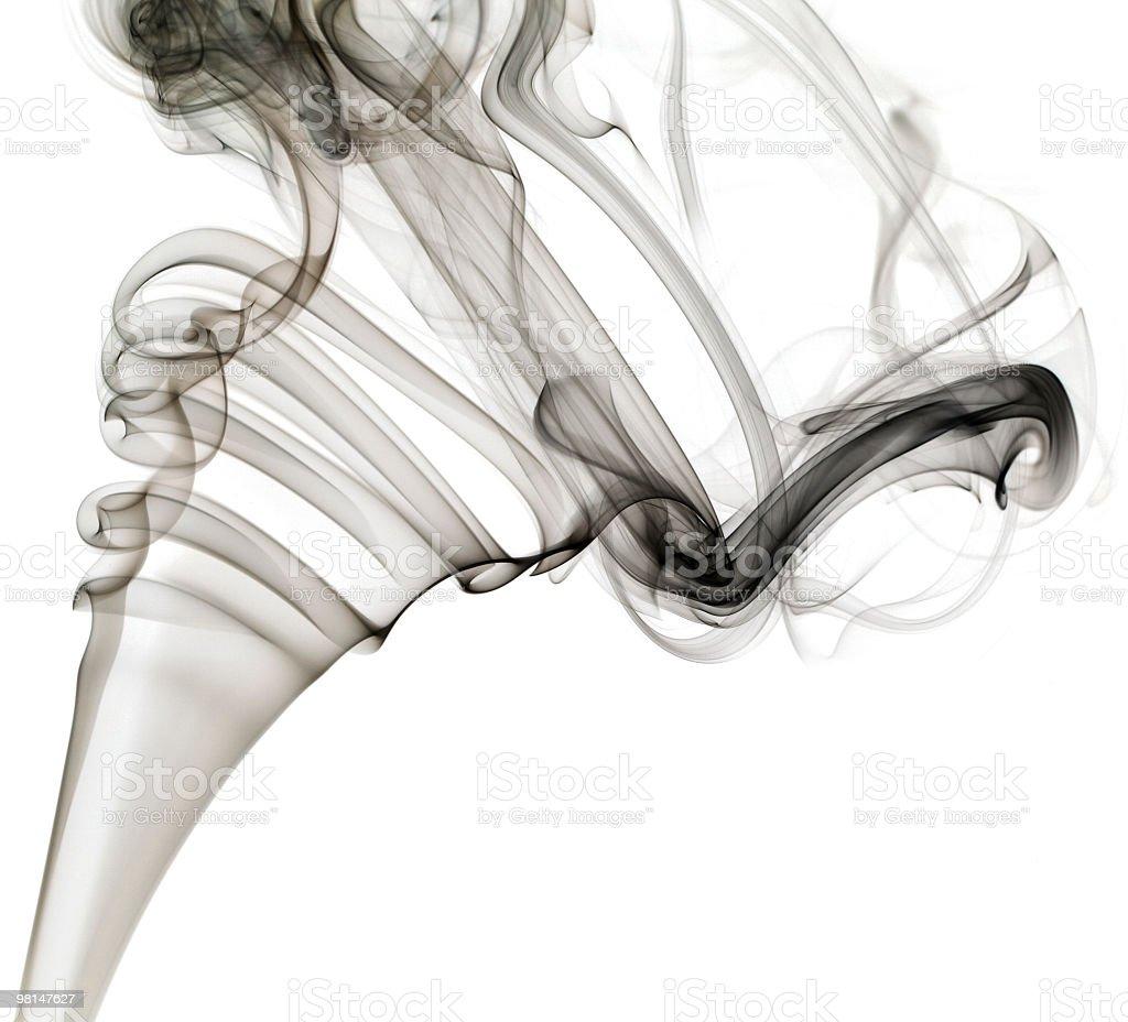 Black grey smoke on white. royalty-free stock photo