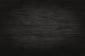 istock Black grey wooden plank wall texture background, old natural pattern of dark wood grained. 1321288902