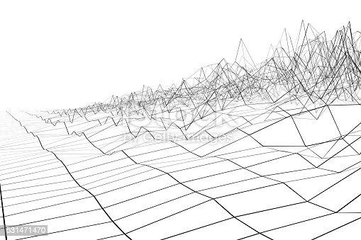 istock Black grid waveform 531471470