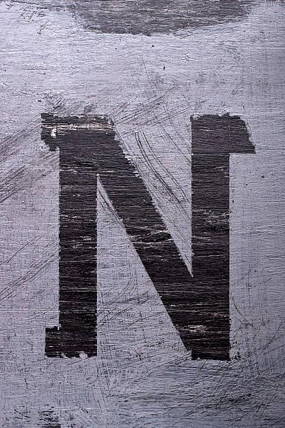 Schwarz Grunge Alphabet. Buchstabe N – Foto
