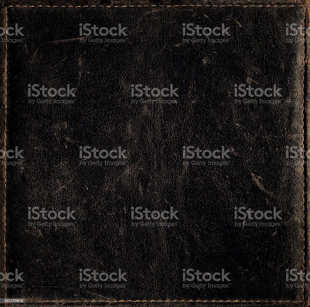 Negro fondo grunge textura de cuero fino dificultad con bastidor - foto de stock