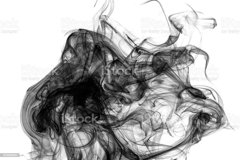 Black grunge smoke. stock photo