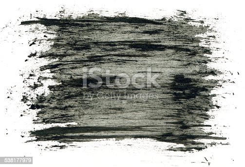 istock Black grungy abstract hand-painted background 538177979