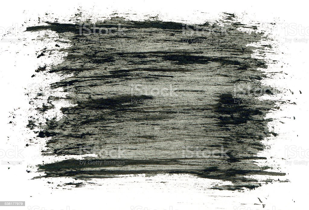 Black grungy abstract hand-painted background stock photo