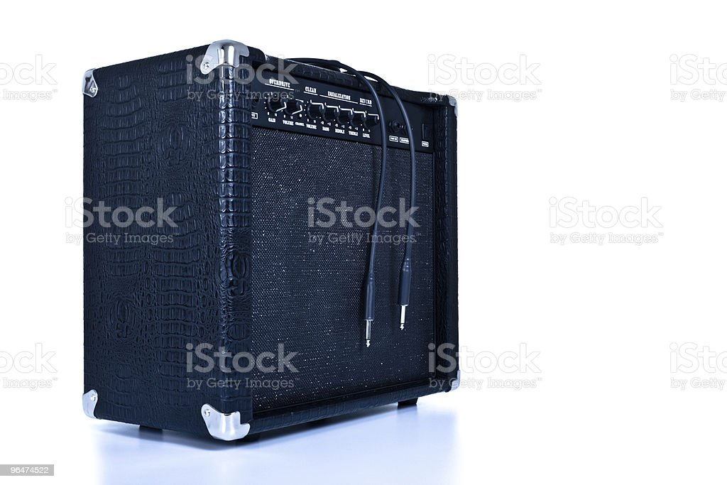 black guitar amplifier royalty-free stock photo