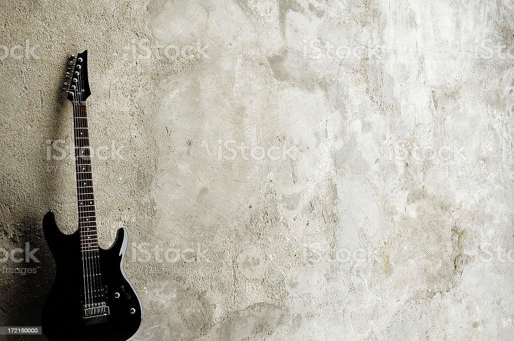 Black Guitar stock photo