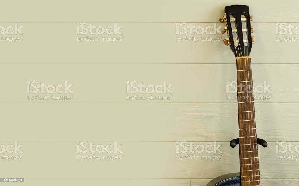 黑吉他禿鷲 - 免版稅一個物體圖庫照片