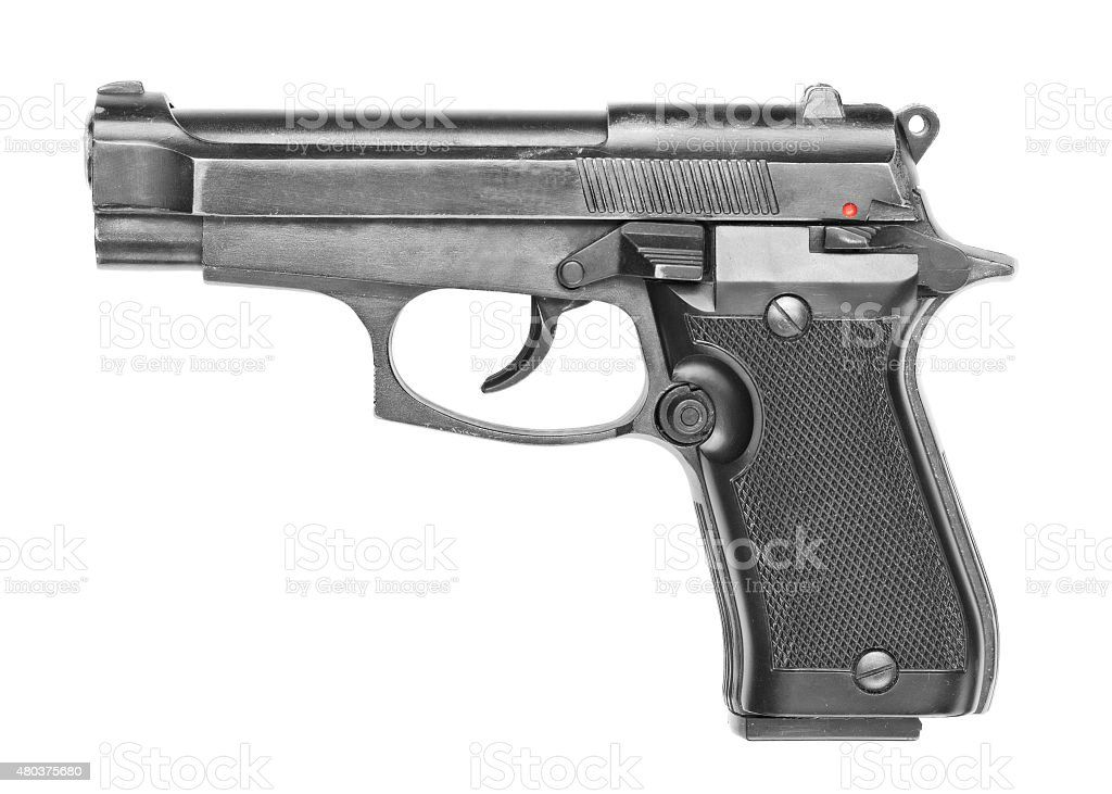 Black gun stock photo