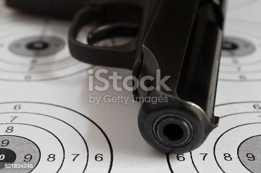 istock Black gun. 521834245