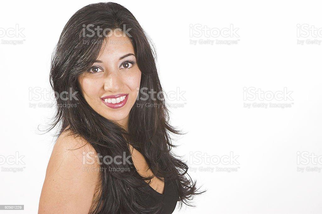 Black hair and dress royalty-free stock photo