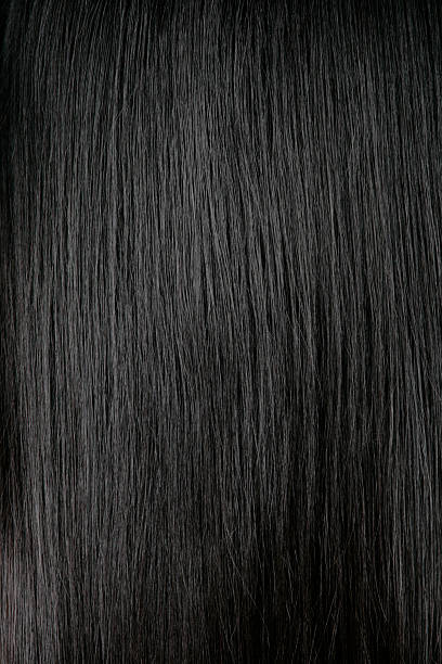 Black Hair Background stock photo