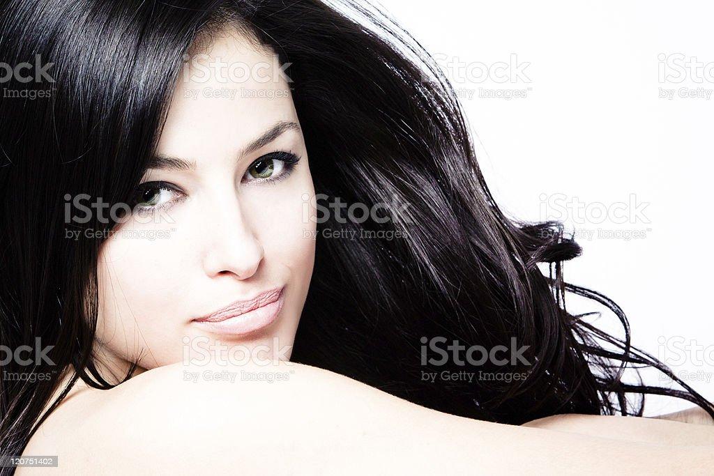 black hair beauty stock photo