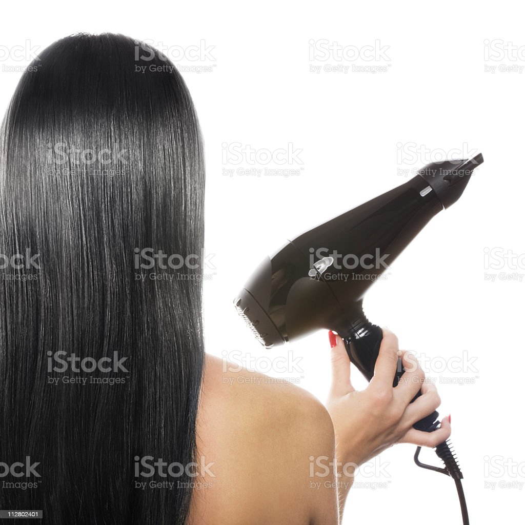Black hair stock photo