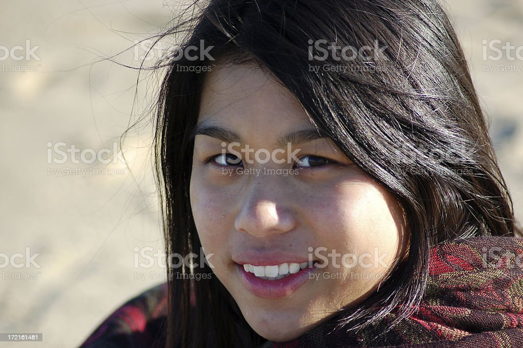 Black Haired Beauty royalty-free stock photo