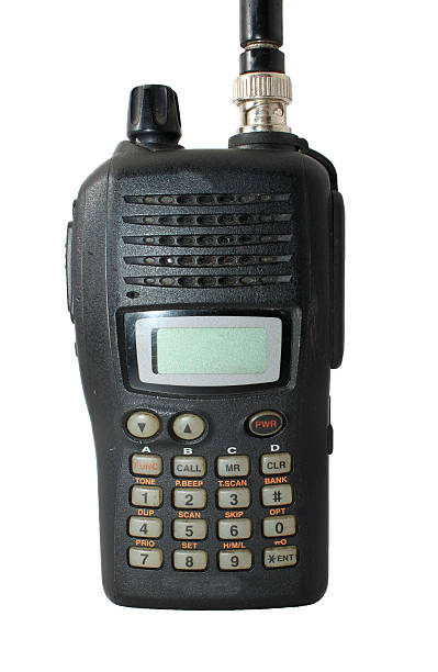 black ham radio isolated on white - ham radio stock photos and pictures