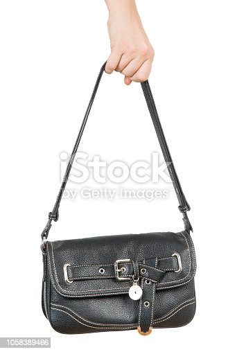 a female hand bag on a white background