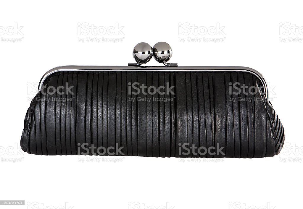 black handbag stock photo