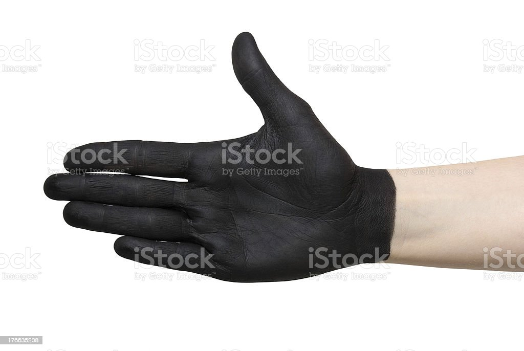black hands royalty-free stock photo