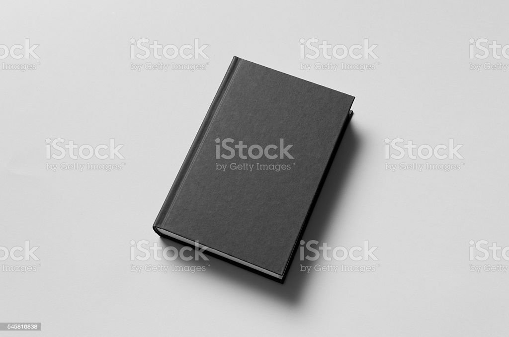 Black Hardcover Book Mock-Up stock photo