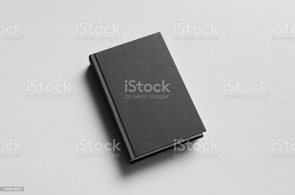 Black Hardcover Book Mock-Up - Photo