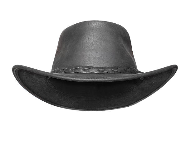chapeau noir. - chapeau de cow boy photos et images de collection