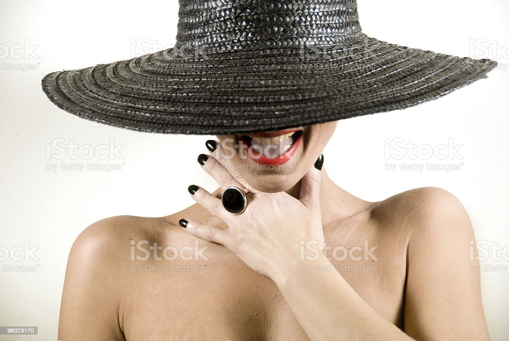 black hat royalty-free stock photo