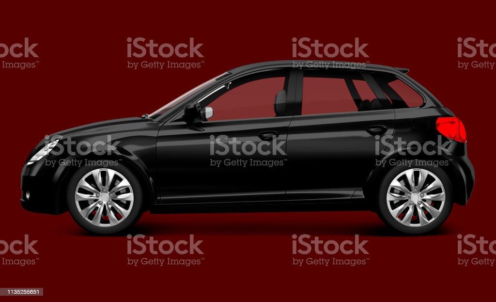 Black hatchback car stock photo