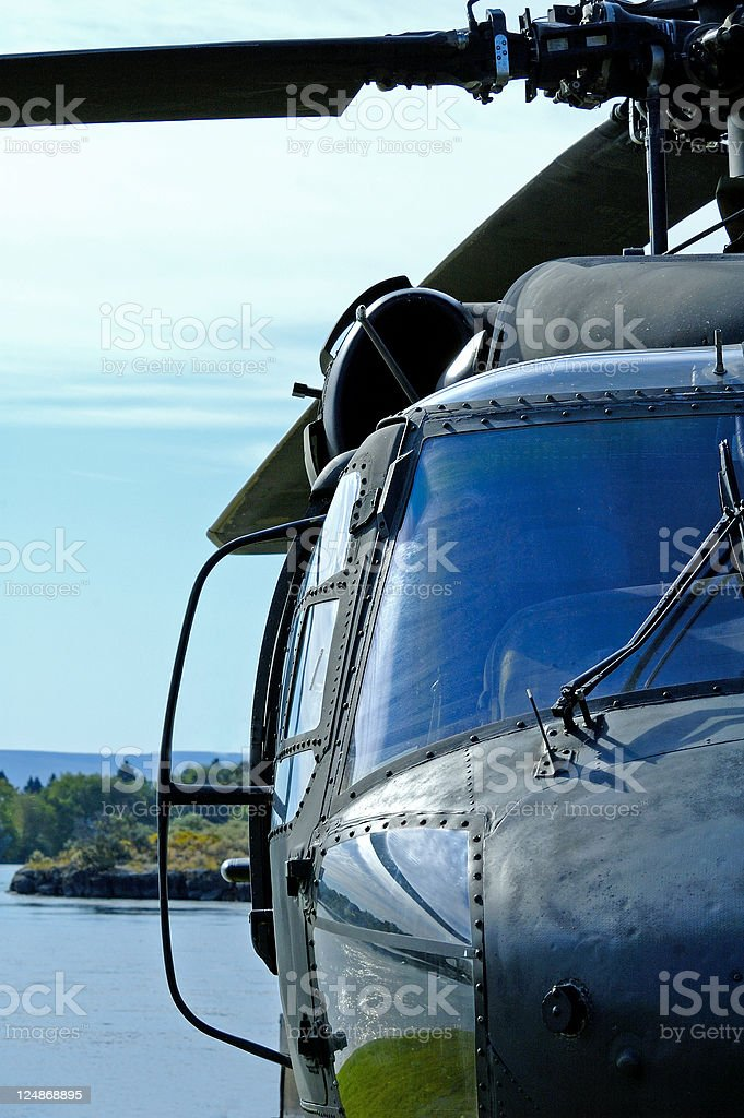 Black Hawk Helicopter stock photo