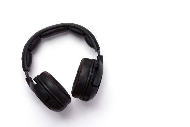 Black headphones - Isolated stock photo