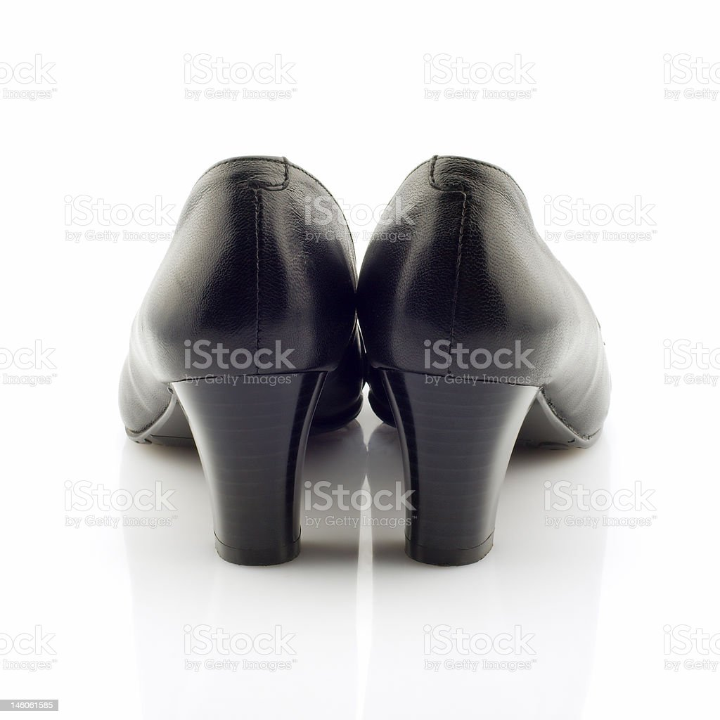 Black heels, isolated royalty-free stock photo