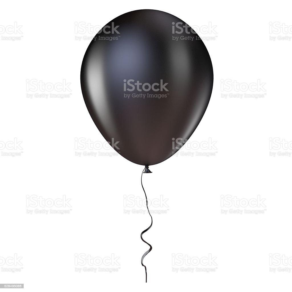 Czarny Balon na hel z wstążki. 3 D – zdjęcie