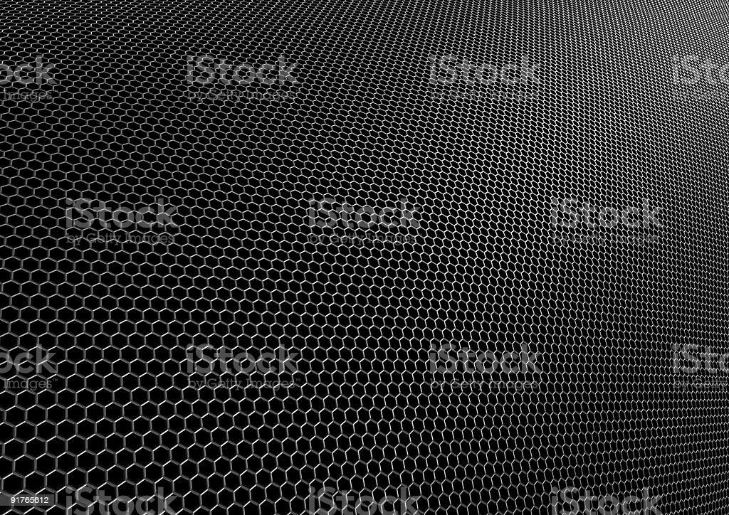 Black hexagons royalty-free stock photo
