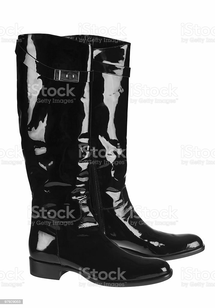 Black high shoes royalty-free stock photo