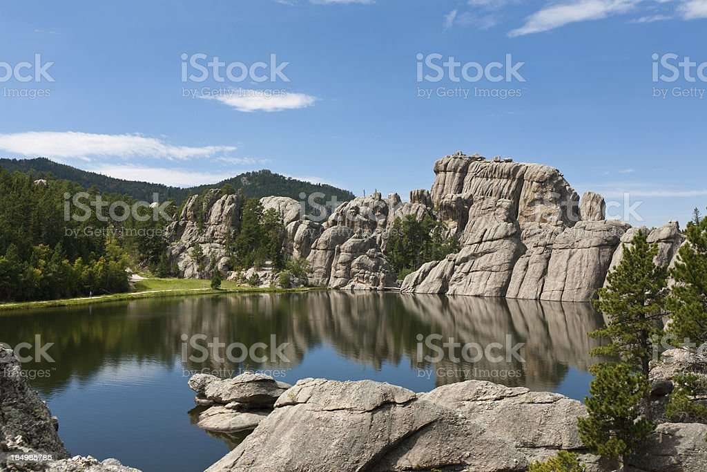 Black Hills landscape with a lake; South Dakota royalty-free stock photo