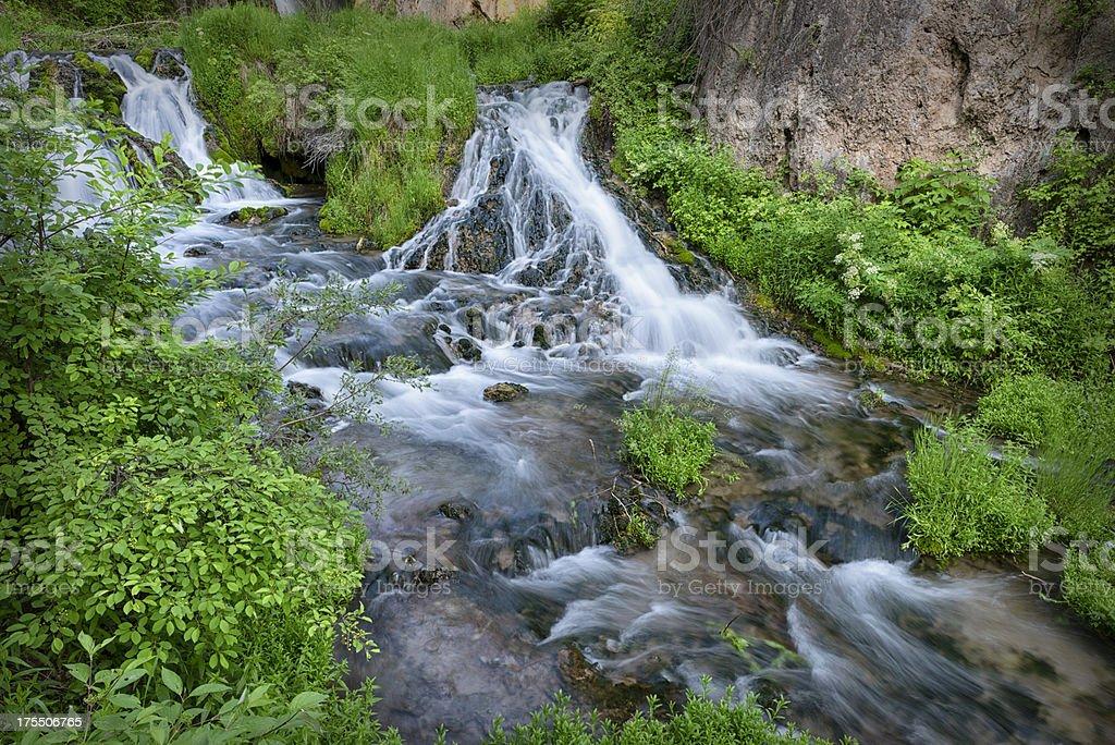 Black Hills National Forest wilderness waterfall  XXXL royalty-free stock photo